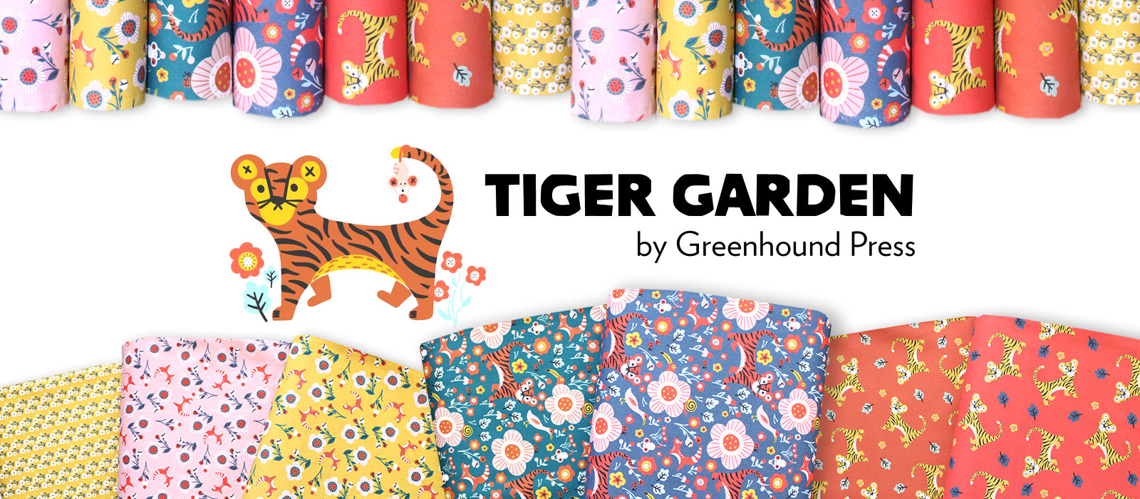 Paintbrush Studio Fabrics Tiger Garden Collection by Green Hound Press