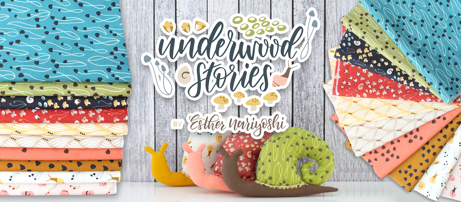 Cloud9 Fabrics Underwood Stories Collection by Esther Nariyoshi