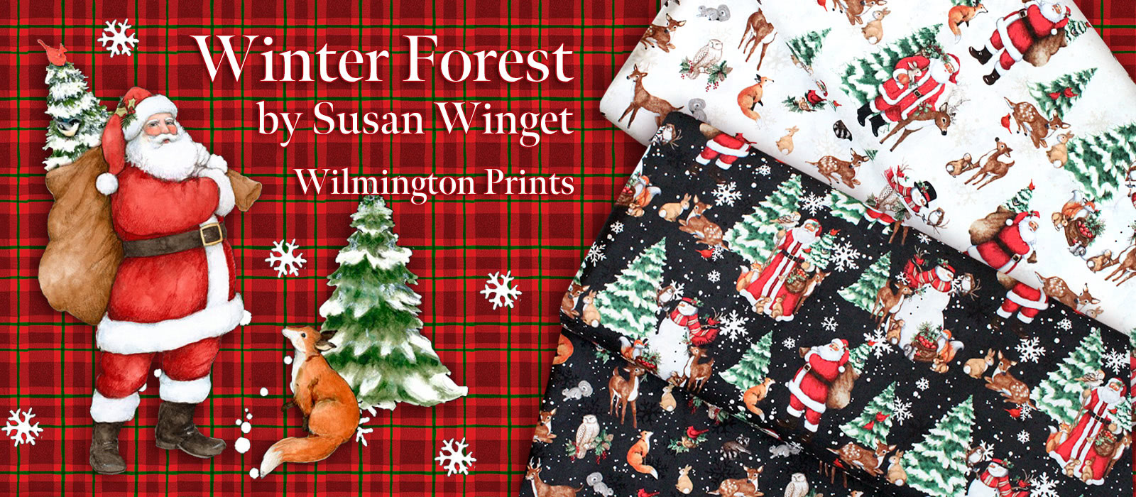 Wilmington Prints Winter Forest Collection by Susan Winget