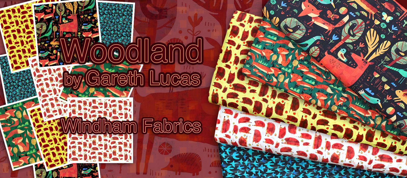 Windham Fabrics Woodland Collection by Gareth Lucas