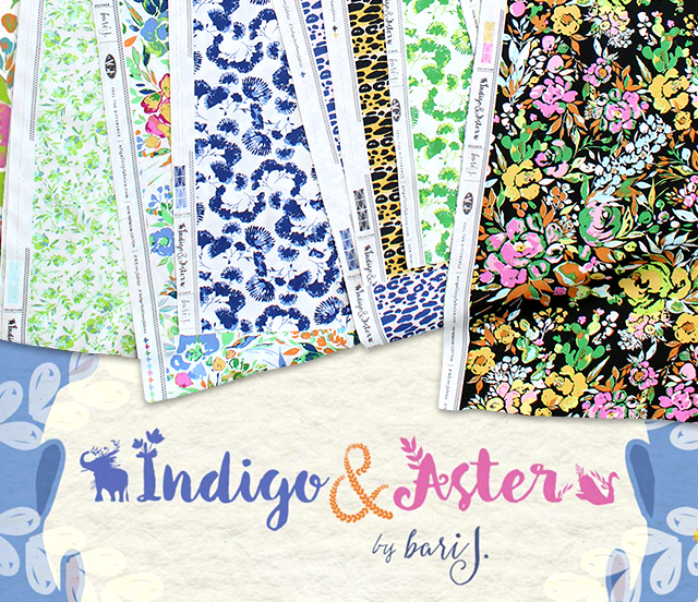 Art Gallery Fabrics Indigo & Aster Collection