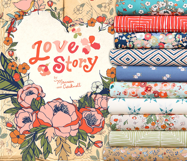 Art Gallery Fabrics Love Story Collection