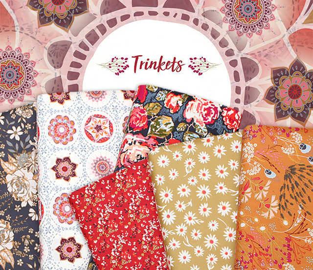 Art Gallery Fabrics Trinkets Fusion Collection