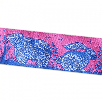 Renaissance Ribbons Animal Grandstand Pink and Blue