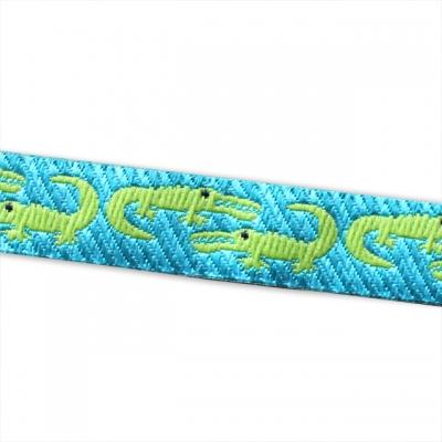 Renaissance Ribbons Folk Tails Turquoise Crocodile