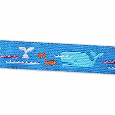 Renaissance Ribbons Novelty Blue Whale & Fish