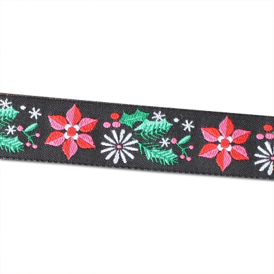 Renaissance Ribbons Poinsettia Black
