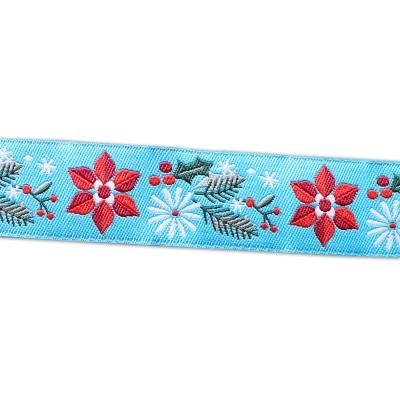 Renaissance Ribbons Poinsettia Turquoise