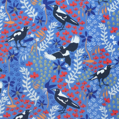 Kennard & Kennard Taking Flight 7083/01 Merry Magpies on Blue