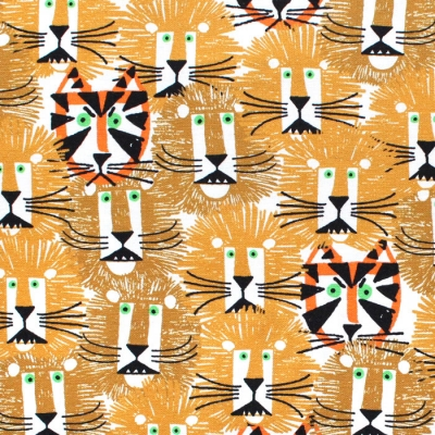 Cloud9 Fabrics Ed Emberley Favorites 226501 Lions & Tigers