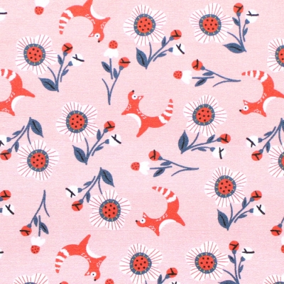 Paintbrush Studio Fabrics Tiger Garden 120-21111 Fox Flowers Peach