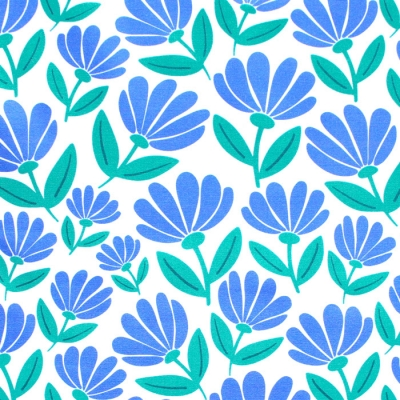 Paintbrush Studio Fabrics Picnic 120-21192 Flowers Blue