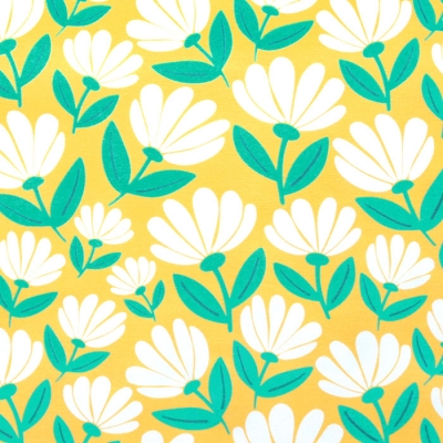 Paintbrush Studio Fabrics Picnic 120-21193 Flowers Yellow