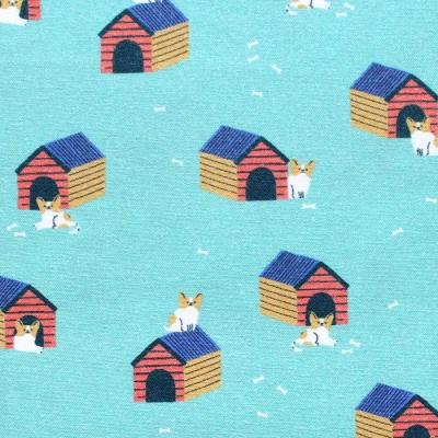 Paintbrush Studio Fabrics Best in Show 120-21554 Dog Huts