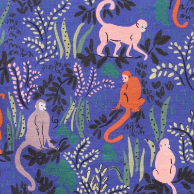 Cloud9 Fabrics Garden of Eden 226937 Tranquil Monkeys