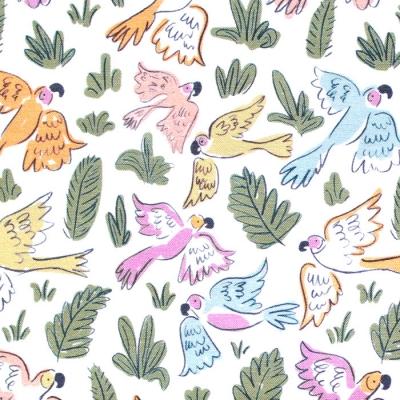 Cloud9 Fabrics Garden of Eden 226938 Joyous Parrots