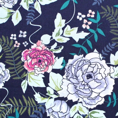 Art Gallery Fabrics Trouvaille Everblooming Camellias Dim