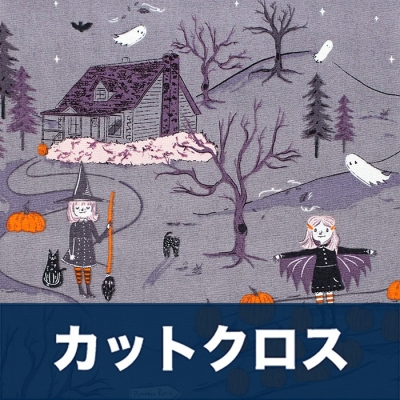 カットクロス Art Gallery Fabrics Spooky'n Sweet Peppermint's Tale Nightfall