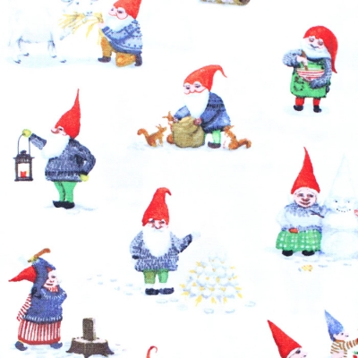 <img class='new_mark_img1' src='https://img.shop-pro.jp/img/new/icons12.gif' style='border:none;display:inline;margin:0px;padding:0px;width:auto;' />Windham Fabrics Winter Gnomes 51874-2 Winter Gnomes in Snow White