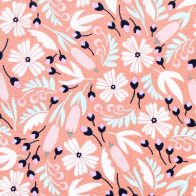 Felicity Fabrics Alpine Meadow in Coralbell 610036