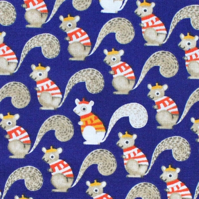 Windham Fabrics Sweet Oak 51306-1 Squirrels Navy