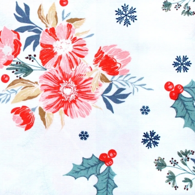 Art Gallery Fabrics Cozy & Joyful Frosted Roses