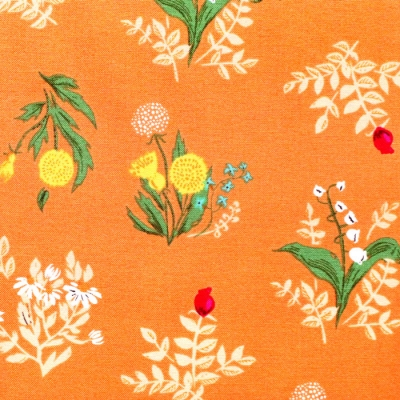 Windham Fabrics Heather Ross 20th Anniversary 42207A-10 Orange Bouquet
