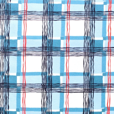 Michael Miller Fabrics Kitschy Cocktails CX8715-BLUE-D Mad About Plaid Blue