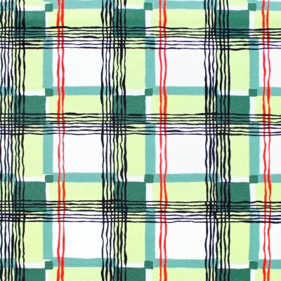 Michael Miller Fabrics Kitschy Cocktails CX8715-GREE-D Mad About Plaid Green