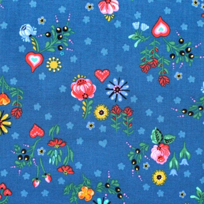 Robert Kaufman Hidden Canyon WEL-19806-82 Floral Blue