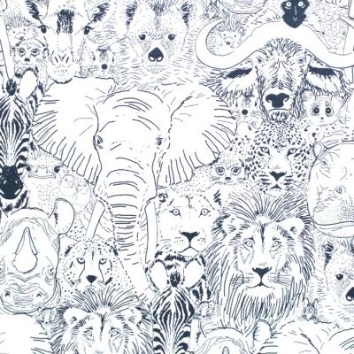 Cloud9 Fabrics Grasslands 226971 Wild Thing Gray