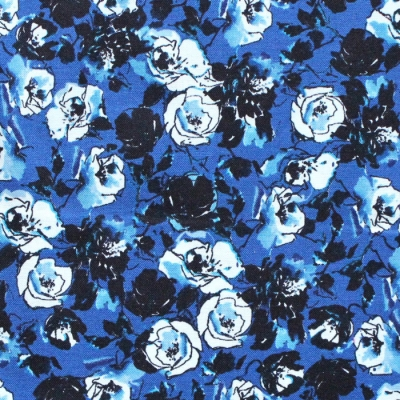 RJR Fabrics Ink Rose RJ1803-MI2 Rose Bundle Midnight