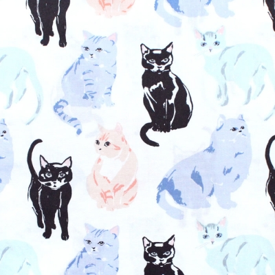 Birch Fabrics Kitty Garden JR-11 Miau