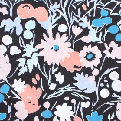 Birch Fabrics Kitty Garden JR-13 Wildflowers Midnight
