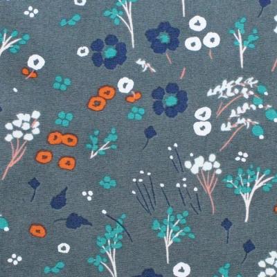 Birch Fabrics Dog Park JR-24 Baby Farrah Floral Slate