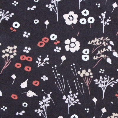 Birch Fabrics Dog Park JR-24 Baby Farrah Floral Soft Black