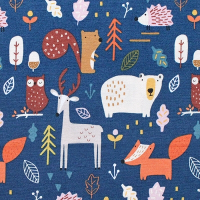 Dashwood Studio Habitat 1697 Woodland in Navy