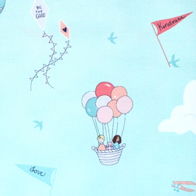 Michael Miller Fabrics Wonderful World DH9375-AQUA Courage & Kindness Aqua