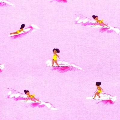 Windham Fabrics Malibu 52146-7 Tiny Surfers Pink