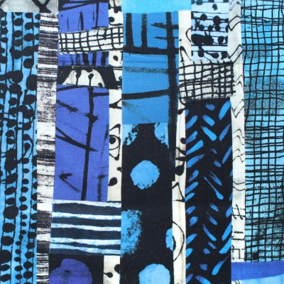 Windham Fabrics The Blue One 52186D-X Totem Multi