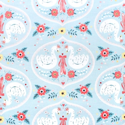 <img class='new_mark_img1' src='https://img.shop-pro.jp/img/new/icons12.gif' style='border:none;display:inline;margin:0px;padding:0px;width:auto;' />Studio E Fabrics Bella Ballerina 5362-11 Large Swans