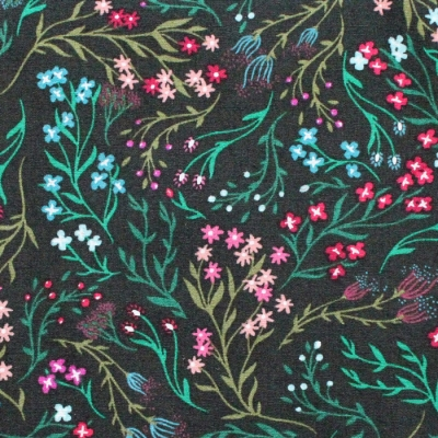 Art Gallery Fabrics The Flower Society Windswept Nocturnal