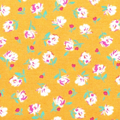 Art Gallery Fabrics The Flower Society Gentle Rosebuds Solar