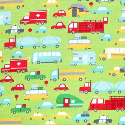 Moda Fabrics On The Go 20721-14 Beep Beep Grass