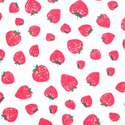 Michael Miller Fabrics Kiss The Cook CX8106-PEAR Strawberry Jam White