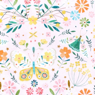 Dashwood Studio Hedgerow 1837 Butterflies Pink