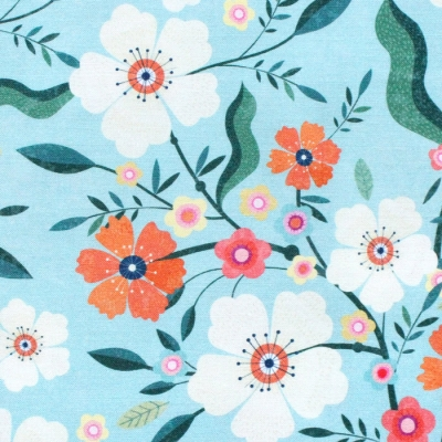 Dashwood Studio Hedgerow 1839 Large Floral Blue