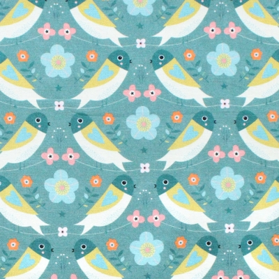 Dashwood Studio Hedgerow 1840 Birds Turquoise