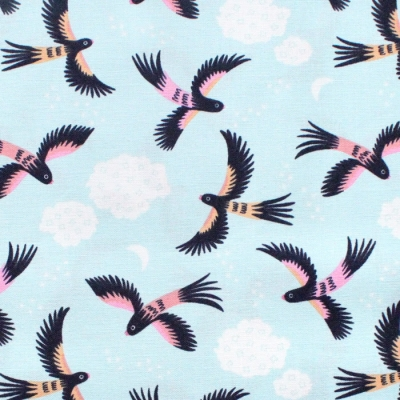 Cloud9 Fabrics Tropical Garden 227008 Parrot Play