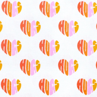 Cloud9 Fabrics Universal Love 227024 Heart Hugs